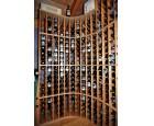 Custom Red Oak Wine rack 3c