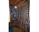 Custom Red Oak Wine rack 3b